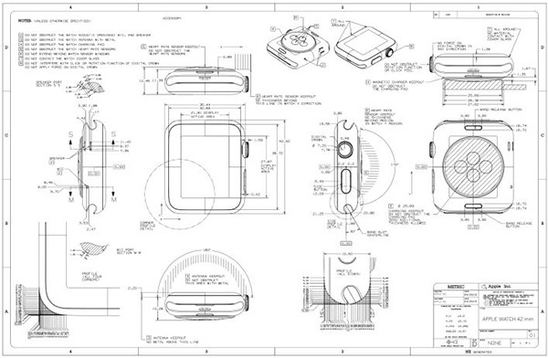 苹果Apple Watch设计图