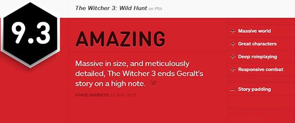 IGN巫师3:狂猎评测
