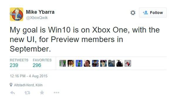 Xbox One版Win10